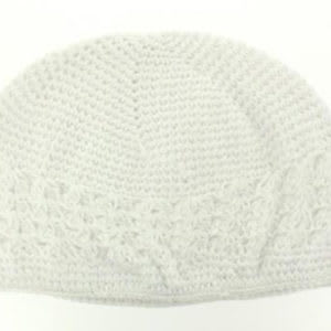 Hand Crafted White Beanie / Kufi