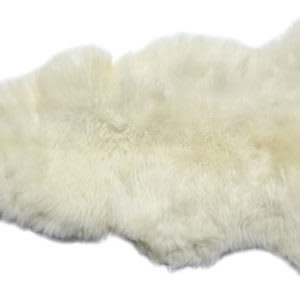 100% Genuine Sheepskin Rug - non-allergenic natural sheepskin fur
